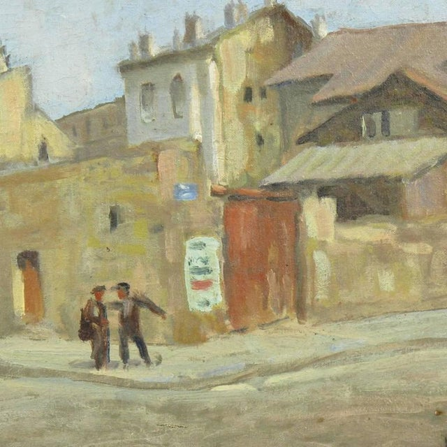 Early 20th Century French Street Scene Oil Painting Signed R. Gori - Image 5 of 8