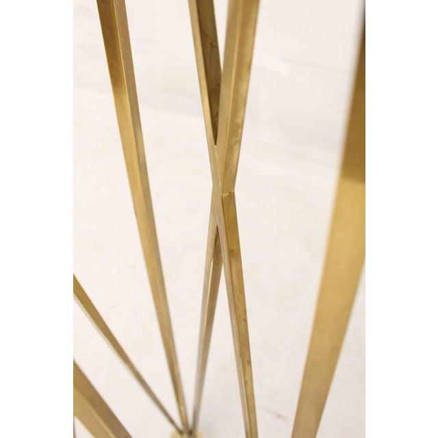 Mid-Century Modern Mid-Century Modern Tall Braised Brass Plant Holder Pedestal For Sale - Image 3 of 9