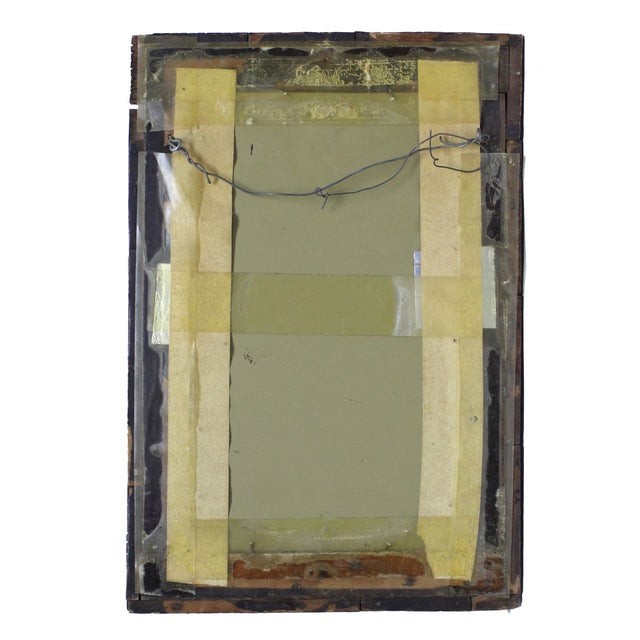 Vintage Diamond Tramp Art Mirror - Image 2 of 3