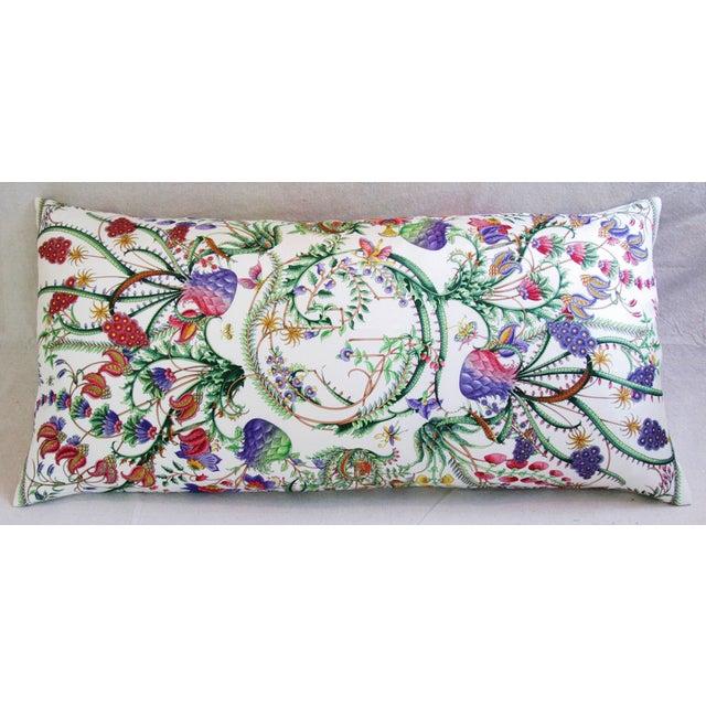Designer Italian Gucci Floral Fanni Silk Pillow - Image 9 of 11