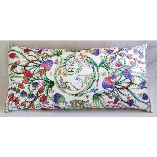 Designer Italian Gucci Floral Fanni Silk Pillow For Sale - Image 9 of 11