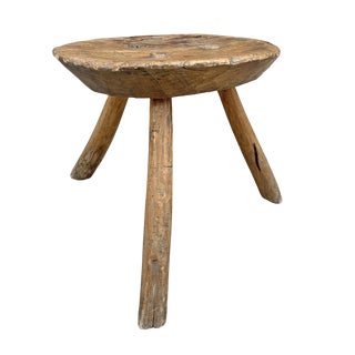 19th Century Primitive Milking Stool For Sale