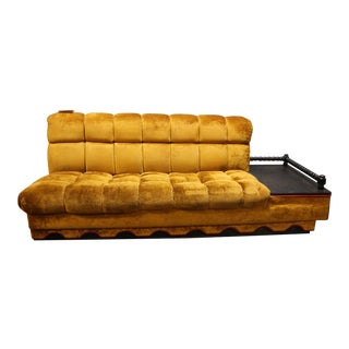 Vintage 3-Seater Sofa with Side Table Attached