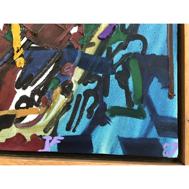Abstract Large 1987 Abstract Painting by Thomas Farnam For Sale - Image 3 of 3