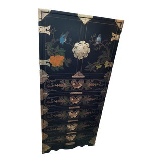 Asian Highboy Chest from Elfriede Schindler Estate
