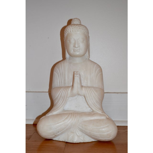 Antique White Marble Buddha Statue - Image 2 of 7