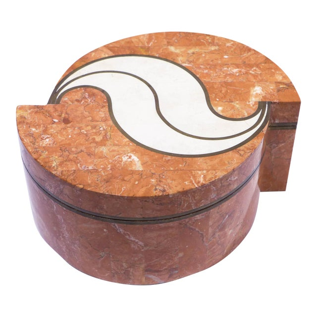 Tessellated Stone Box by Maitland-Smith For Sale