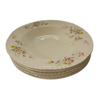 Vintage Floral Soup Bowls - Set of 5