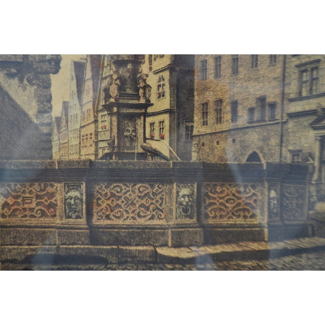 Etching Vintage Ernst Geissendorfer Etching For Sale - Image 7 of 11