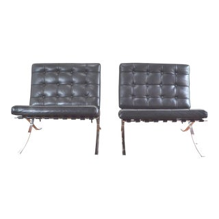 Pair of Mid Century Barcelona Style Lounge Chairs