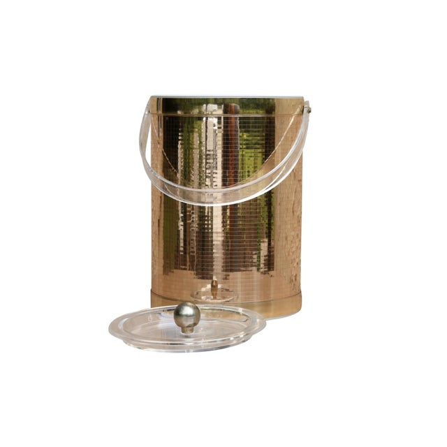 Boho Chic Georges Briard Mid Century Modern Gold Ice Bucket For Sale - Image 3 of 7