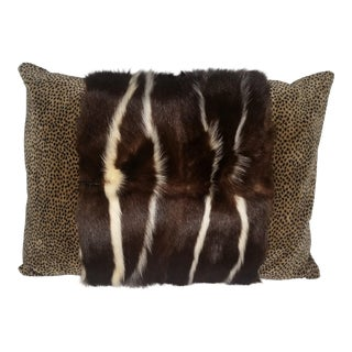 Contemporary Civet and Printed Velvet Pillow For Sale