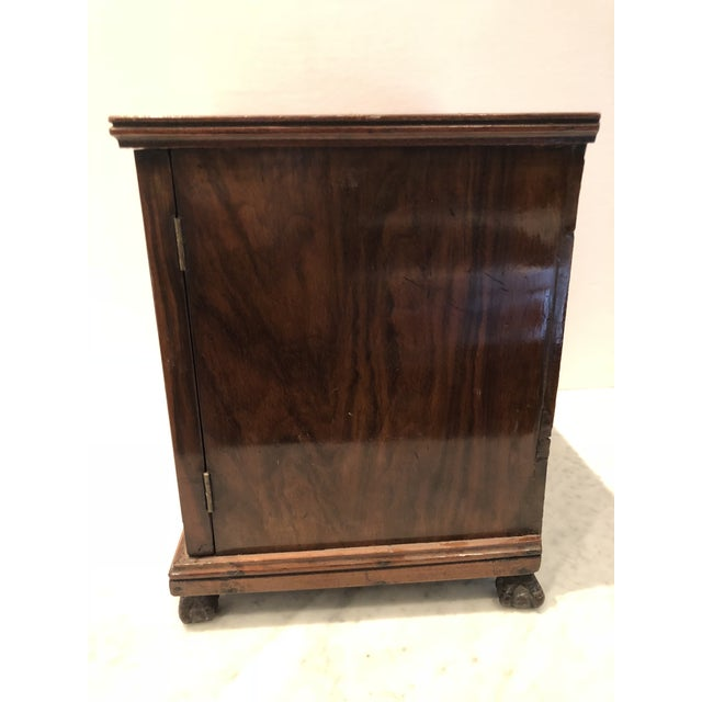 Brown 19th Century Mahogany Man's Jewelry Case For Sale - Image 8 of 10
