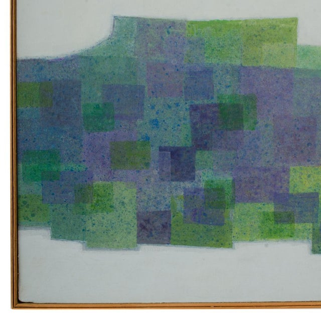 """Abstract 1970s """"Double Landscape"""" Abstract Oil Painting by Hans Kline, Framed For Sale - Image 3 of 13"""
