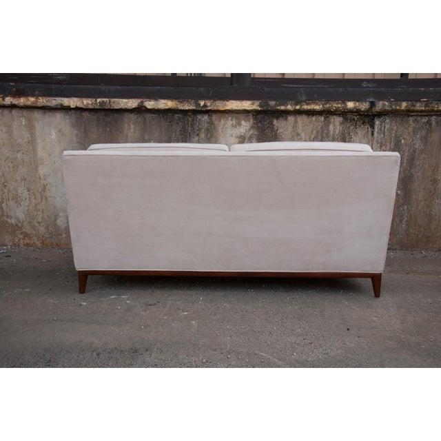 Circa 1950 United States Modern Dunbar/John Stuart Cream Velvet Sofas - a Pair For Sale - Image 4 of 10