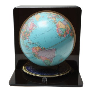 Vintage Globe / Planisphere With Black Acrylic Casing For Sale