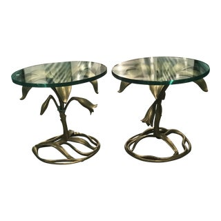 Arthur Court Lily Side Tables - A Pair For Sale