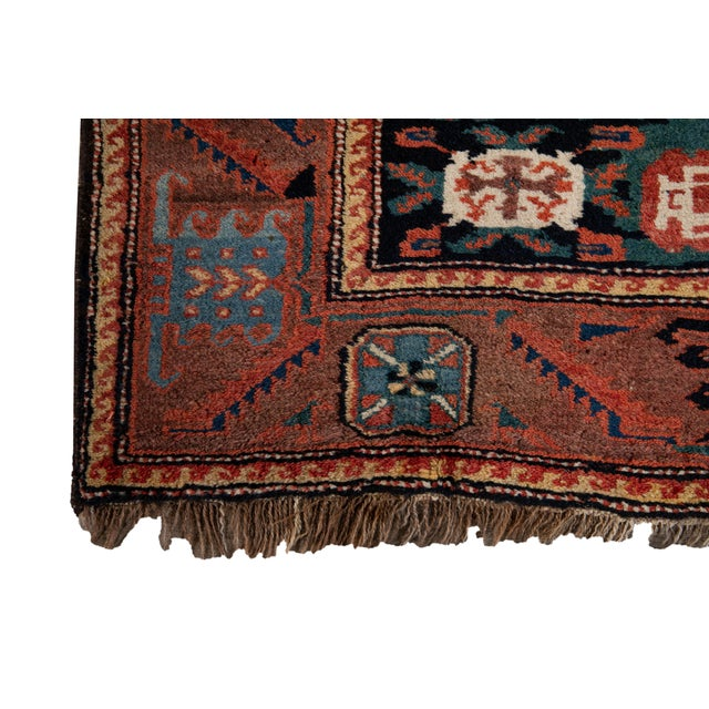 Mid-20th Century Vintage Wool Rug 4' 5'' X 8' 8''. For Sale - Image 10 of 13