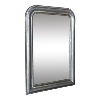 19th Century Silvered Louis Philippe Mirror For Sale