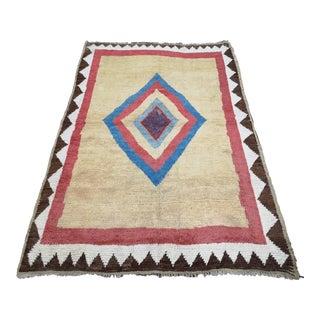 1970s Vintage Geometric Modern Persian Gabbeh Area Rug For Sale
