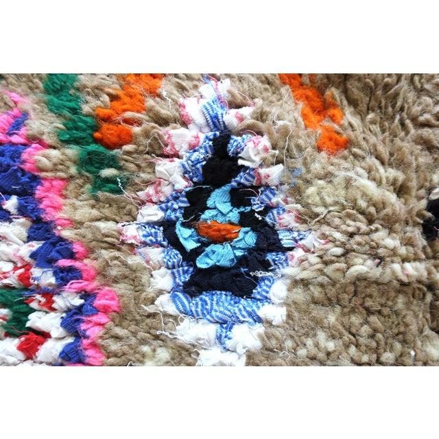 Moroccan Boucherouite Rug - 4′6″ × 6′5″ For Sale - Image 10 of 13
