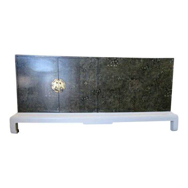 Chinoiseire Asian Influenced Credenza - Image 1 of 5