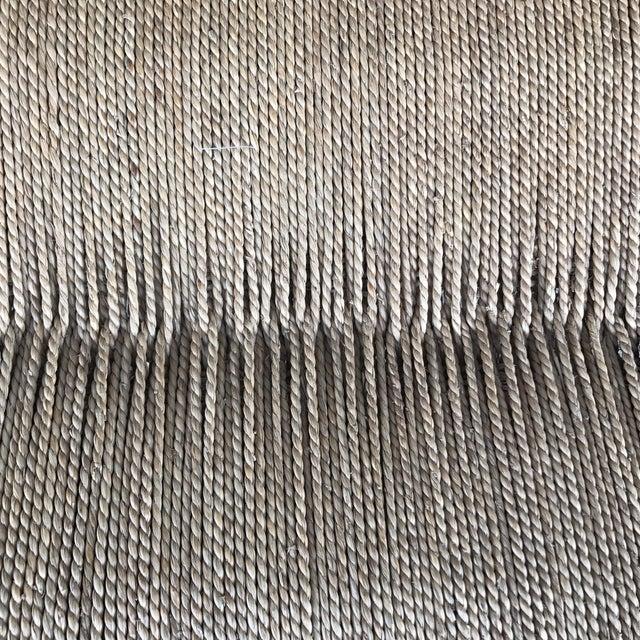 Woven Lampakanay Rope & Wood Bench - Image 7 of 7