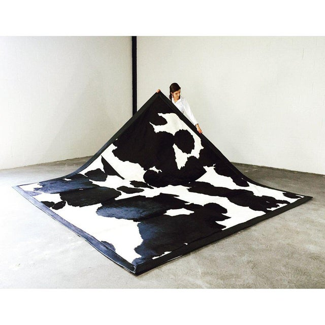 Black & White Cowhide Area Rug - Image 2 of 3