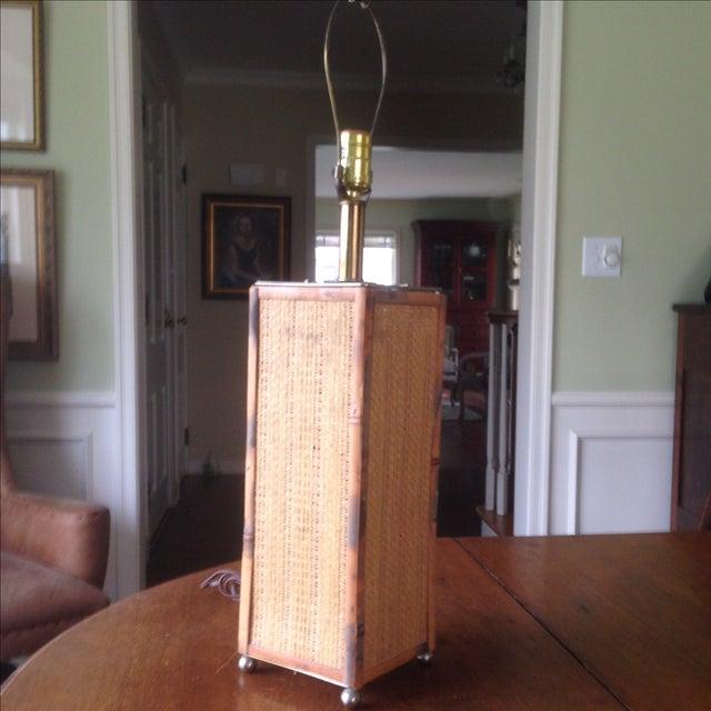 Vintage Rattan Table Lamp - Image 11 of 11