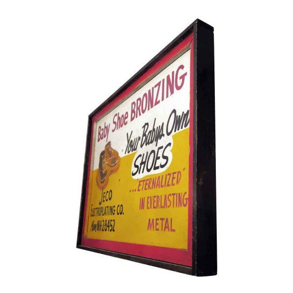 Double Sided Baby Shoe Bronzing Sign For Sale - Image 5 of 6