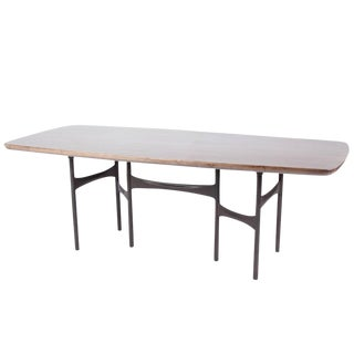 Link Dining Table Timber and Steel by AKMD Collection For Sale