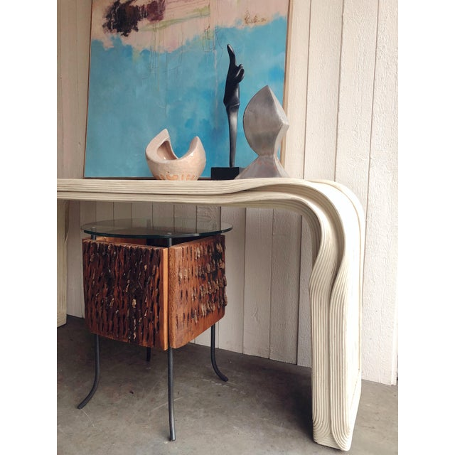 "Rare Betty Cobonpue Pencil Reed ""Ribbon"" Console Table For Sale - Image 9 of 9"
