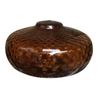 Mid-Century Modern Amber Replacement Lamp Globe For Sale