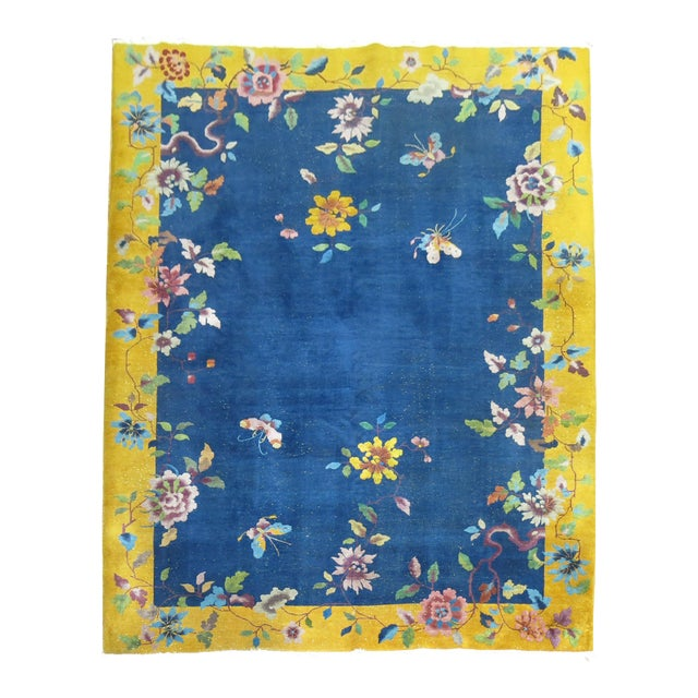 Chinese Art Deco Rug, 9' x 11'9'' - Image 1 of 9