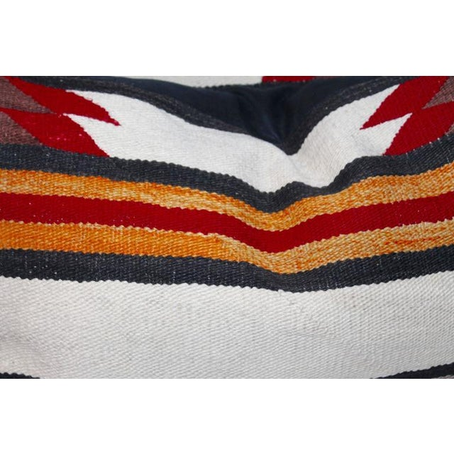 Navajo Indian Weaving Saddle Blanket Pillows For Sale - Image 4 of 4