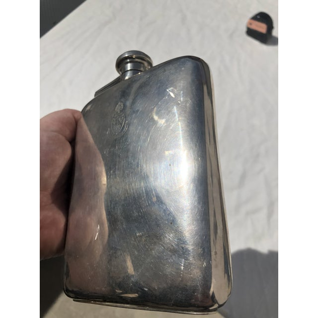 Sterling Silver Flask Dated December 1922 For Sale - Image 10 of 13