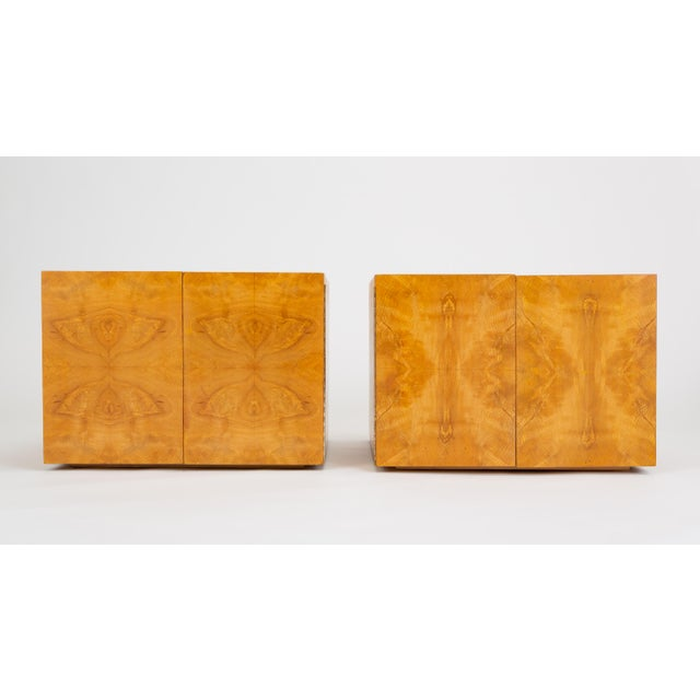 Pair of Burl Wood Side Tables or Blanket Chests For Sale - Image 11 of 11