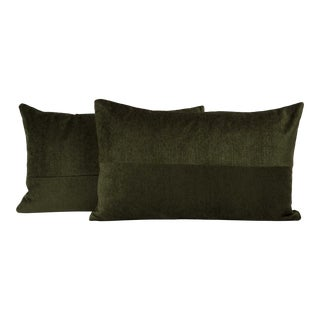 Deep Forest Mid-Century Lumbar Pillow Cover (Pair) For Sale