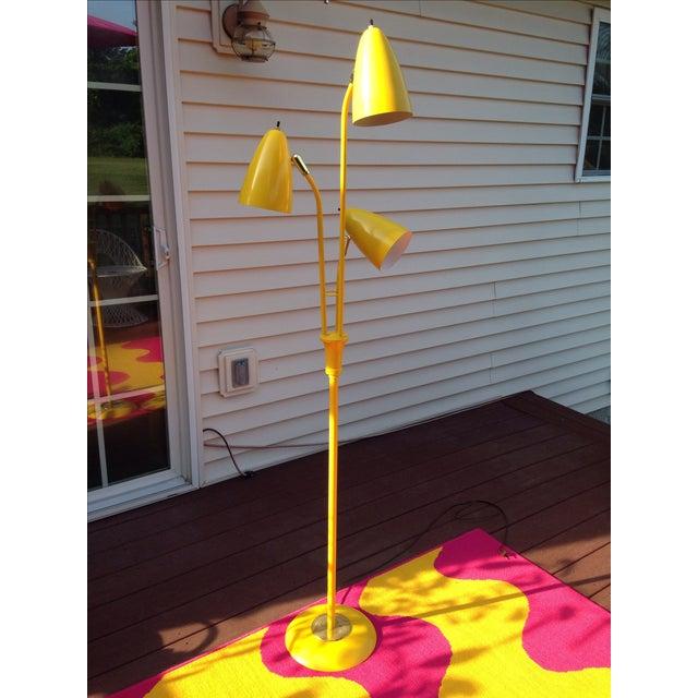 Yellow Mid Century Modern Bullet Floor Lamp - Image 2 of 11