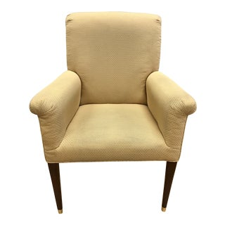 Four Baker Furniture Gold Upholstered Armchairs