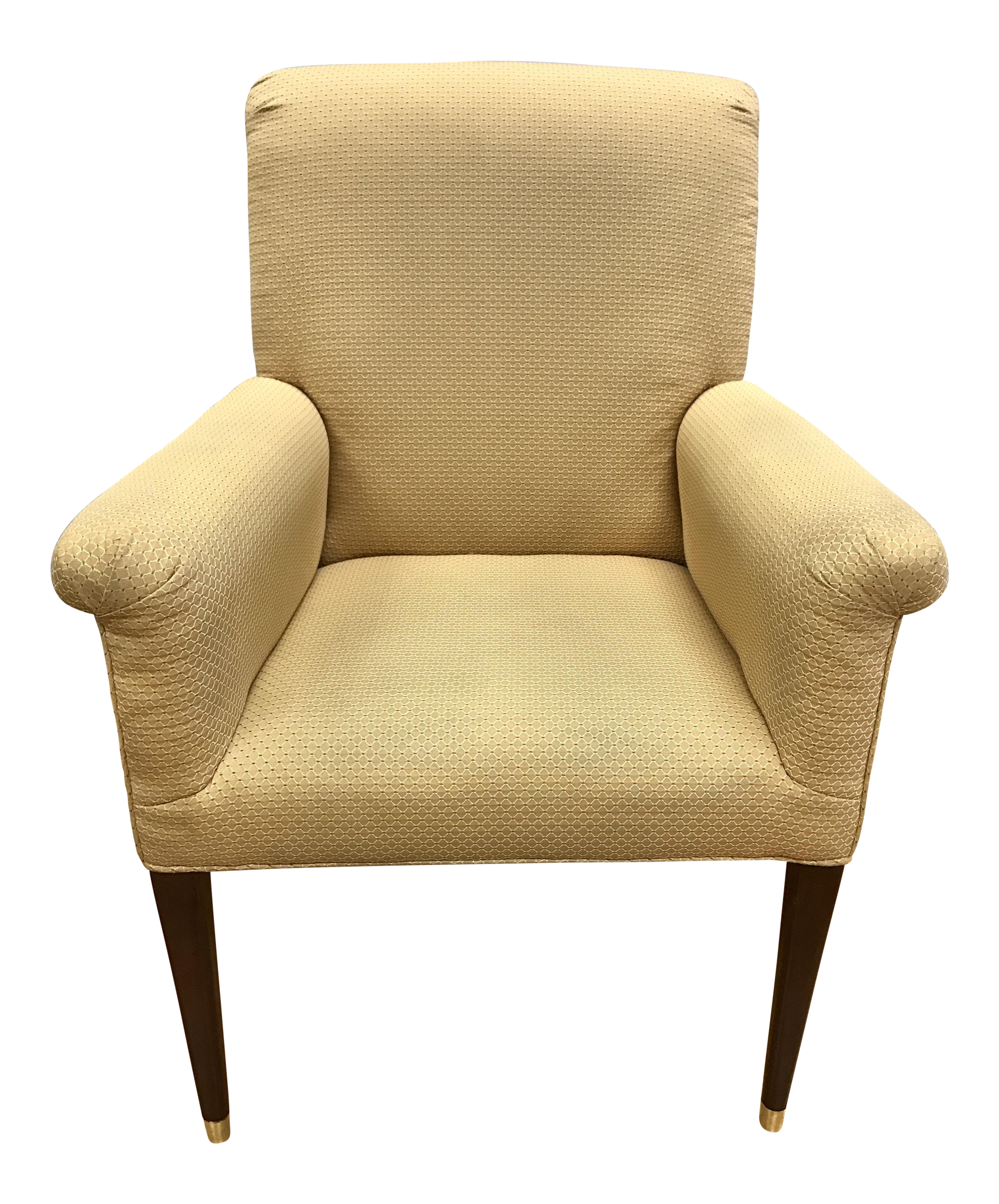 Four Baker Furniture Gold Upholstered Armchairs   Image 1 Of 10