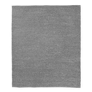 Reading Dark Gray Flatweave Polyester/Cotton Area Rug - 10'x14' For Sale