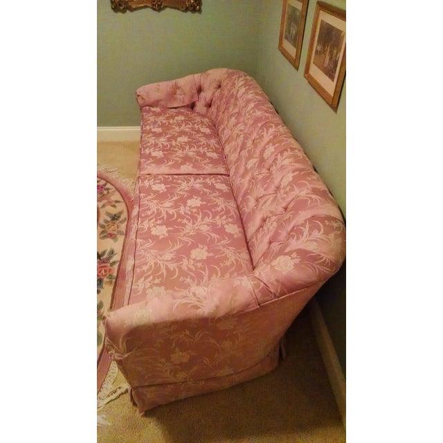 Traditional Pink Satin Sofa - Image 3 of 3