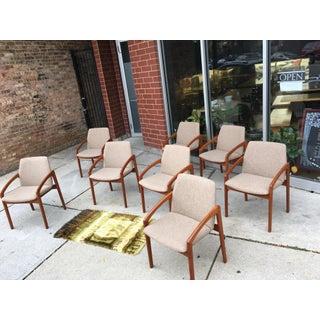 Vintage Kai Kristiansen Paper Knife Teak Dining Chairs- Set of 8 Preview