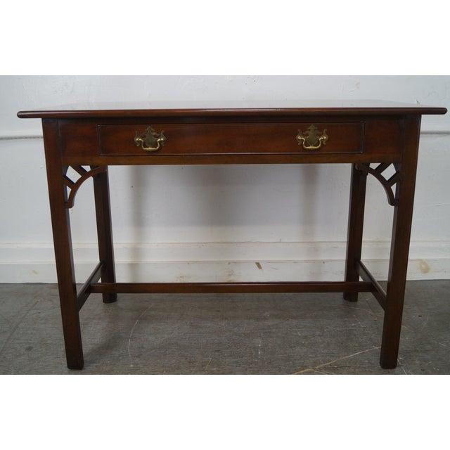 Kittinger Colonial Williamsburg Adaptation Mahogany Chippendale Writing Desk - Image 2 of 10