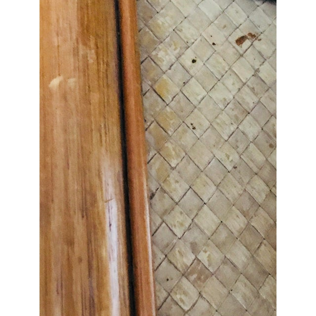 Vintage 1960s Pagoda Shape Rattan Bamboo Shelves Etagere Palm Beach Regency For Sale - Image 12 of 13