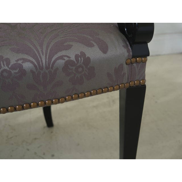 Paint Hepplewhite Paint Decorated Double Settee Bench For Sale - Image 7 of 12
