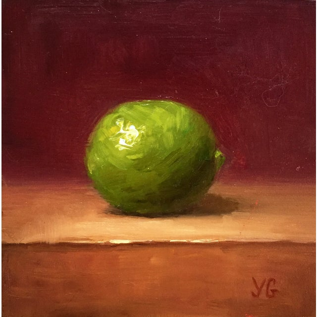 Small Lime Oil Painting - Image 1 of 2