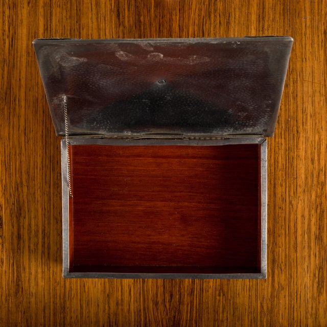 Brown 1950s French Jewelry Box For Sale - Image 8 of 9