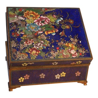 Japanese Cloisonne Box For Sale